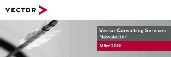 Vector Consulting Services - Newsletter März 2019